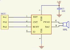 电子称语音电路
